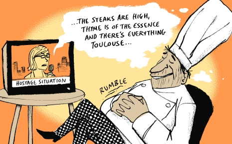 ...the steaks are high, thyme is of the essence and there's everything tolouse.