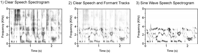 Stages in generating sine-wave speech