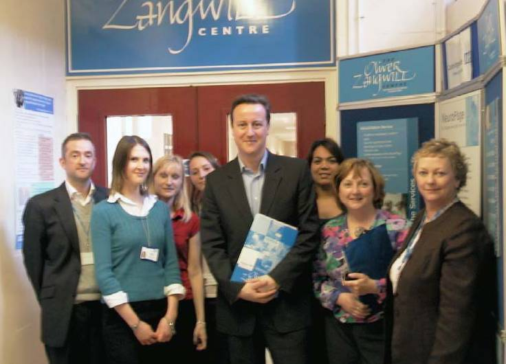 David Cameron visiting the Ooliver Zangwill Centre