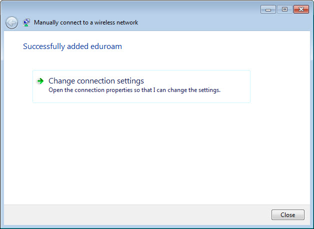 Windows 7 Manual Connection Details 2