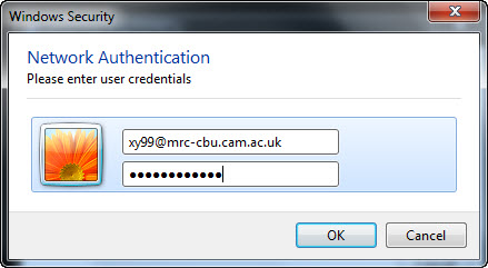 Enter Credentials